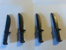 PLAYMOBIL:4 POIGNARDS NOIRS#KNIFE DAGGER DOLCH DAGA DAGUE MESSER CUCHILLO#157