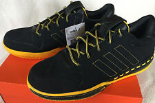 Adidas Lux Low 677548 Luxury Yellow Black Leather Basketball Shoes Men's 11 new