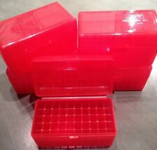 (1) 243 308 7.62x39 22-250 6mm 30 30 300 RED BERRY'S AMMO BOX 50 ROUND MPN 409