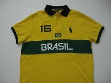 POLO RALPH LAUREN Men's Custom-Fit BRASIL Country Polo Shirt XL