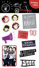 5 Seconds of Summer 5SOS Official Licensed Vinyl Stickers Pack Mix 1