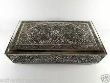 SALE SALE ANTIQUE PERSIAN STERLING SILVER 84 CIGAR JEWELRY BOX 1036 GRAMS