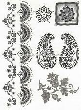 HENNA LARGE SHEET TAT 2498 BLACK  Temporary Tattoo
