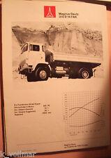 ✪altes Original LKW Prospekt Magirus-Deutz 310 D 16 FAK von 1973  Seiten: 8
