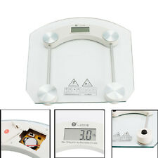 Digital LCD Glass Electronic Weight Body Bathroom Health Scale 150KG/330LB