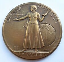 """LE PARISIEN LIBERE"" FRENCH NEWSPAPER ART DECO MEDAL by LUCIEN BAZOR"