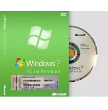 Windows 7 Home Premium 32 Bit by Microsoft Full Version SP1 w/ COA
