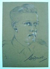 MILITARY PORTRAIT WWII PRIVATE G MCDONALD  PENCIL ROBERT LYON 1941