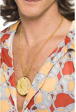 Gold Medallion Kette NEU - Zubehör Accessoire Karneval Fasching