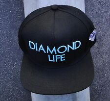 SCRPIT FRONT BLACK MENS DIAMOND SUPPLY CO. SNAPBACK HAT