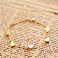 FD4127 Gold Chain Anklet Heart Love Bracelet Barefoot Sandal Beach Foot Jewelry☆