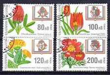 Flore - Fleurs Bulgarie (22) série complète de 4 timbres oblitérés