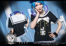 Lolita cartoon fantasy Luna pixie rabbit peter pan sailor collar tee【JHU0008】