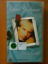 RICHARD CLAYDERMAN ~ LIVE IN CONCERT ~ RARE AS NEW VHS VIDEO