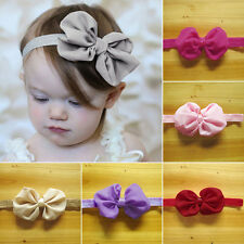 10pcs Baby Newborn Chiffon Bowknot Headbands New Hair Band Gift Fashion Hot
