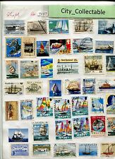 T467 # BULK 41 PCS SHIPS USED STAMPS AUSTRALIA JERSEY CANADA JAPAN ETC