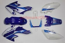 Blue/White Plastics Decals Graphics For Honda CRF50 XR50 bike SSR SDG Thumpstar