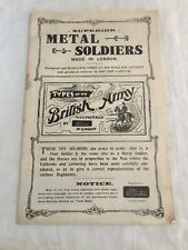 Rare Britains Metal Soldiers 1905 Limited Edition #'d Catalog Signed L.D.