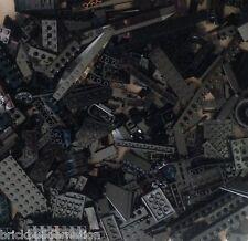 NEW LEGO 100+ BLACK MIX OF PARTS PIECES HUGE BULK LOT RANDOM LEGOS