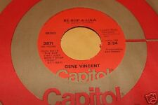 Gene Vincent Be Bop A Lula b/w Lotta Livin 45 From Co Vault Unopened Box NM *