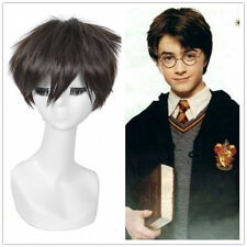 Harry Potter Cosplay Wig Short Straight Hair Pixie Cropped Dark Brown Men Wigs
