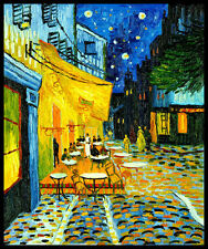 Vincent Van Gogh Cafe Terrace Magnetic Poster 11.5x15 Canvas Print FRIDGE MAGNET