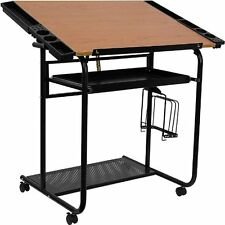 Drawing Table Drafting Art Desk Work Station Adjustable Office Furniture W/ Tray