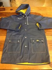 Izod Lacoste Raincoat Jacket Reversible Alligator Yell/blue PVC Men's Size M