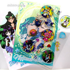 Sailor Team #2 Carddass Clear Stickers SAILOR MOON 20th Authentic BANDAI Japan