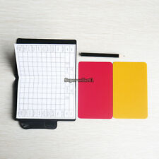 1 Pcs Professional Soccer Referee Wallet Red Card Yellow Card Pencil Log Book