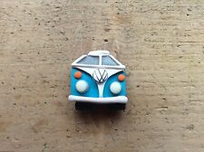 Camper Van Badge Split Screen Bug Bus Handmade Clay Pick Colour Cute Gift