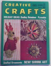 "Vintage How to ""Creative Crafts Holiday Ideas"" Magazine published 1973"