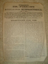 Dr. Pierce's Lotion Tablets and Suppositories advertisement - early 1900's