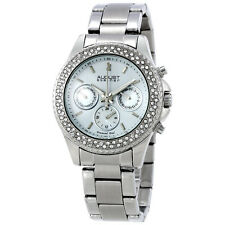 August Steiner White Dial Stainless Steel Ladies Watch AS8100SS