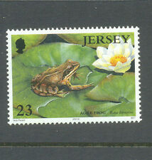 Frog and lily mnh single-Jersey-Amphibians