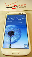 Unlocked Verizon Prepaid Samsung White Galaxy  S3 16GB 4G LTE -  No Contract