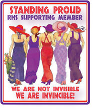 4X PURPLE T SHIRT FOR RED HAT LADIES OF SOCIETY WHO STAND PROUD IN SUPPORT