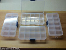 10 SECTION TACKLE BOX FOR SEA COARSE GAME FLY FISHING HOOKS SWIVELS