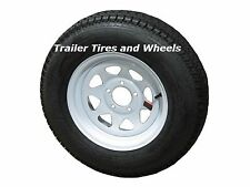 "*2* 175/80D13 LRC ET Bias Trailer Tire on 13"" 5 Lug White Spoke Steel Wheel"