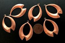 Vintage 27 x 38mm Copper Tone Metal Drop Charms Findings 6