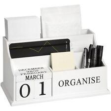 Shabby Chic in Legno Lettera Rack Office Scrivania Ordinata Lettera Titolare Organizzatore Bianco
