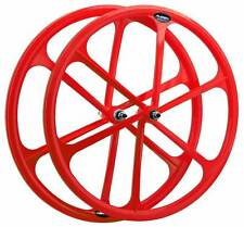 RUBEN Wheel front fixie road city fixed pinion 700c Colors fluorescent RED
