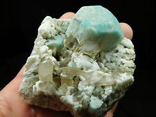 Smoky Quartz Crystals With a NICE! Blue Amazonite Crystal From Ethiopia 278gr