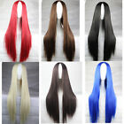 New Fashion Womens Anime Cosplay Party Wig Many Color Full Long Bangs wigs