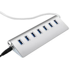 Aluminum 7-Ports USB3.0 HUB High Speed Verteiler für Notebook Apple Macbook PC