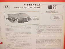 1974 MOTOROLA CAR AUTO AM-FM/MPLX RADIO SERVICE MANUAL FM273AX (1975 5FM273AX)