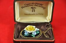 VINTAGE Capo di Monte PORCELLANA FIORE COLLANA HAND MADE in Italia (BOXED) c. 1960's