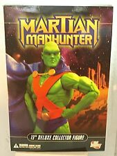 "DC Direct Martian Manhunter 13"" Deluxe Collector Action Figure MIB"