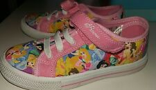Girls Disney Princess Canvas Shoes size 10 - Worn Once