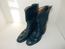 Justin Blue Cowgirl Boots, Size 5C